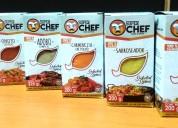 Condimentos super chef-food y spices.