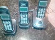 Tres telÉfonos panasonic inalambricos