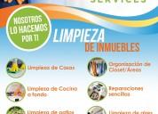 Servicio  limpieza y mantenimiento de casas y ofc