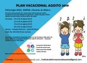 Plan vacacional temporada agosto 2019