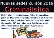 Cursos criminologia y criminalistica en caracas