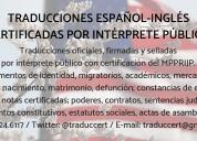 Traducción certificada-intérprete público ing/esp