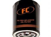 Venta de filtros de aceite y combustible