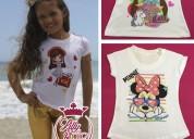Diseños exclusivos en franelas para niñas