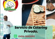 Servicio profesional de chef a domicilio