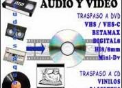 Conversiones o transferencias de audio y videos