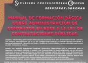 Manual de formación de administración de contratos
