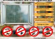 Mosquitero ventana corrediza, fijo, quita y pon o