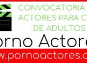 Actores para el cine en la industria de adultos.