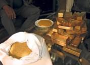 Venta de lingot oro y de polvo oro en cantidad