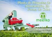Planta de briquetas para biomasa meelko