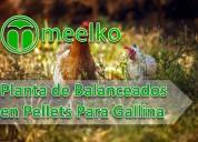 Planta en pellets meelko para gallinas