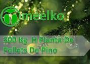 Planta de pellets meelko de pino de 300kg