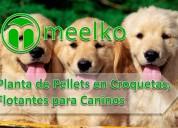 Planta de pellets en croquetas meelko para perros