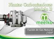 Plantas carbonizadoras modelo a meelko