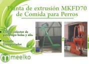 Planta de extrusión mkfd70 meelko comida perros