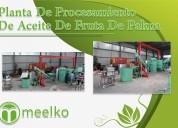 Planta de procesamiento de aceite de fruta palma