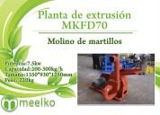 Planta de extrusión mkfd70 meelko