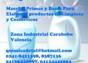 Materias primas y bases para elaborar productos de