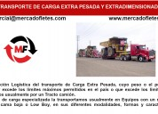 Transporte de carga de tractocamiones  40 pies
