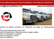 Transporte de carga de tractocamiones cortinero