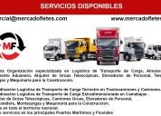 Transporte de carga de tractocamiones plataforma