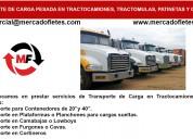 Transporte de carga de tractocamiones tara