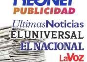 Avisos anuncios periodicos el universal