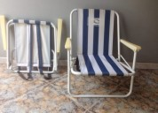 Set de sillas playeras plegables