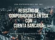 Registro de empresas con cuentas bancarias en usa