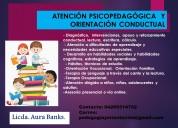 AtenciÓn psicopedagÓgica, orientaciÓn conductual