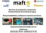 Instalación reparación bombas de agua condominios