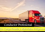 curso para conductores de carga pesada y materiale
