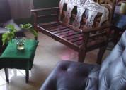 Vendo juego de muebles en madera laqueada de saman