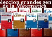 Libros coleccion grandes genios de las matemáticas