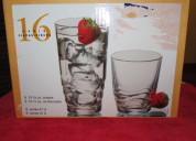 Set 16 vasos cristal