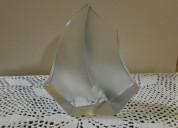 Escultura velero cristal