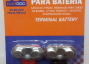 Bornes de plomo para baterias