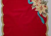 Tapetes de mesa navideño (pirograbado s/gamuza) ar