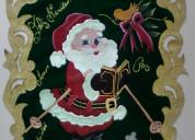 Pendón navideño (pirograbado sobre gamuza) artesan