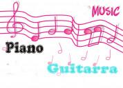 cursos de piano y guitarra en casa