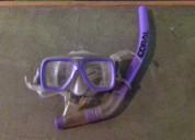 Mascara para buceo con snorkel