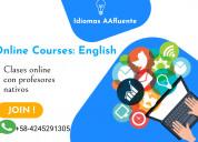 Clases de inglés particulares online y presenciale