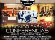 Alquiler sonido para conferencias