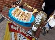 Alquiler carrito de perros calientes para fieatas