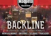 Alquiler backline para eventos amplificadores baterias etc