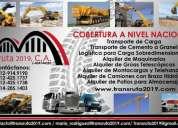 Transporte de carga alquiler transruta 2019