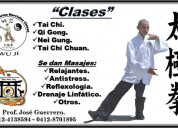 Clases de tai chi chuan chi kung.