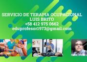 Servicio de terapia ocupacional a domicilio
