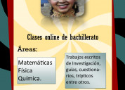 clases online de matemática, física, química